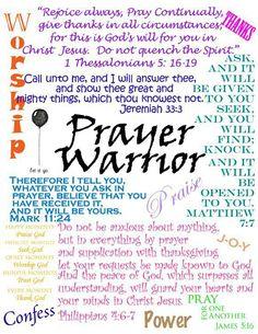 Be a Prayer Warrior