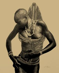 Dinka woman, South Sudan.