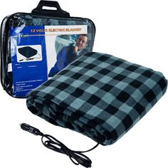 Trademark Plaid Electric Blanket for Automobile - 12 volt. Great gift idea for a truck driver. #Trucking                                                                               More
