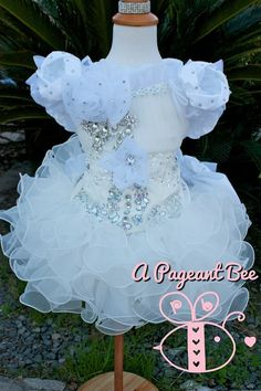 Pageant glitz cupcake pageant White Pageant Dresses, Toddler Pageant Dresses, Pagent Dresses, Girls Fancy Dresses, Little Girl Dresses, Ball Dresses, Glitz Pageant, Beauty Pageant, Crochet