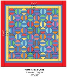 Jumbles lap quilt