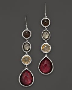 Ippolita Sterling Silver Wonderland 4 Stone Drop Earrings in Lambrusco - Jewel Tones - Accessories Trends - Fall Style Guide: It's On - LOOKBOOKS - Fashion Index - Bloomingdale's