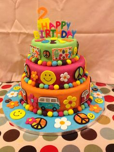 Hippy Styled Cake Birthday