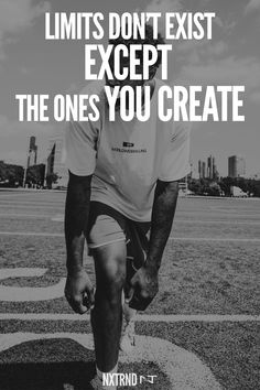 The only limitations are the ones you make. #FootballQuotes #SportQuotes #Motivation #Inspiration #Football #Nxtrnd Best Football Quotes, Motivational Quotes For Athletes, Mouth Guard, Sport Quotes, Motivation Inspiration, Sports, Hs Sports, Sport
