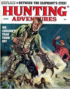 HUNTING ADVENTURES, Spring 1956. Cover art by Tom Ryan by SubtropicBob, via Flickr