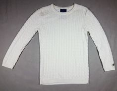 Ralph Lauren POLO Jeans Co. White Cable knit sweater womens sz S | Clothing, Shoes & Accessories, Women's Clothing, Sweaters | eBay!