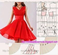 Refashion, Ideias Fashion, Skirts, Inspiration, Dresses, Ruffle Dress, Red Gown Dress, Dress Template, Toddler Dress