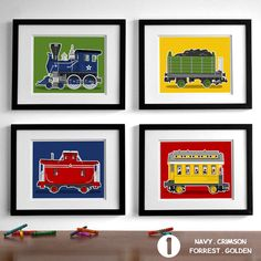 Hello there, this listing is for a set of four unframed art prints. Choose any…