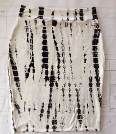 BLACK AND WHITE pencil skirt by handmaidends on Etsy, $22.00