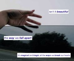 """QOTD: whats your fav song to listen to when ur sad/depressed? mine is """"we fall apart"""" (the lyrics are in my edit above) by we as human. its a breathtakingly beautiful song"""