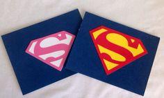 Superman or Supergirl Birthday Invitations Superhero by JazzyBug
