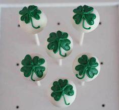 Lucky Clover Cake Pops