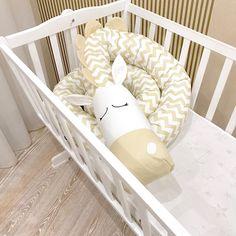 Baby crib bumper BEIGE ZEBRA Pillow Handmade Baby Bed Bumper