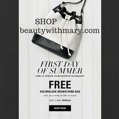 FREE Avon Bucket Bag with Purchase.Ends 6/22! HURRY Use code BWBAG at https://mbertsch.avonrepresentative.com