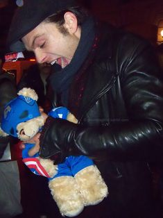 """That's it. That's the movie.   Sebastian Stan Explains """"Captain America: The Winter Soldier"""" With Teddy Bears"""