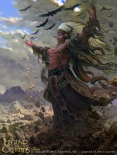 Artist: Jiefeng Jiao - Title: Unknown - Card: Unknown, Legend of the cryptids