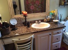 Redone laminate counter made to look like granite!!! Really came out beautiful