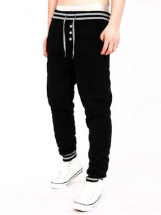 GET $50 NOW | Join RoseGal: Get YOUR $50 NOW!http://www.rosegal.com/mens-pants/stripe-splicing-single-breasted-fleece-jogger-803476.html?seid=7158153rg803476