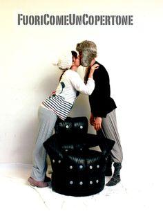 Luca e Mariannaper Fuori Come Un Copertone. #degonflage #fuoricomeuncopertone #pneumatici #poltrone #love