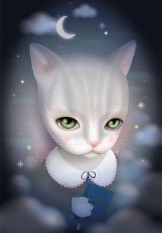 http://www.facebook.com/mijnschatjeart    Luna is a wise cat who loves reading.