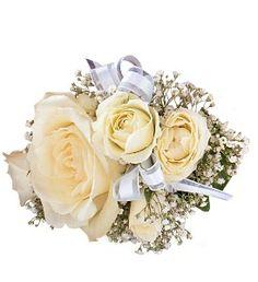 White Ice Roses Wristlet in Ellicott City MD, Raimondi's Weddings