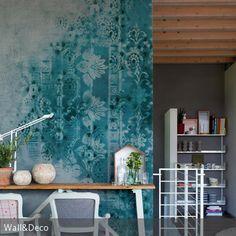 Diese Tapete verhilft zu einer äußerst kreativen Wandgestaltung: Das Muster und die zum Teil verblasste Optik erinnern an eine historische Wand, die …