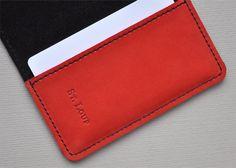 Image of Porte-cartes black & red