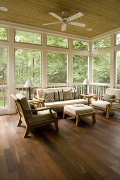 Screened in porch. I want one so bad! Between all the bugs and thunderstorms we get in the summer, this is kind of a necessity in The South.