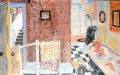 Sunday Morning by Brita Granstrom. Bath, washing, bathing. Thompsons Galleries |