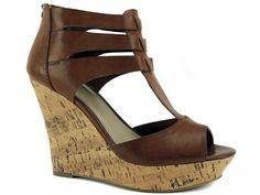 G by GUESS Women's Dart Wedge Sandals Honeycomb Medium Brown Size 8.5 (B, M) #GUESS #PlatformsWedges #DressorCasual