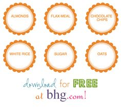 oh my goodness - FREE printable pantry labels you can personalize yourself!!!!  Thank you BHG!