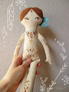 little dear tracks: tattooed dolls