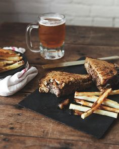 Patty Melt with Beer Caramelized Onions and Sharp Cheese.