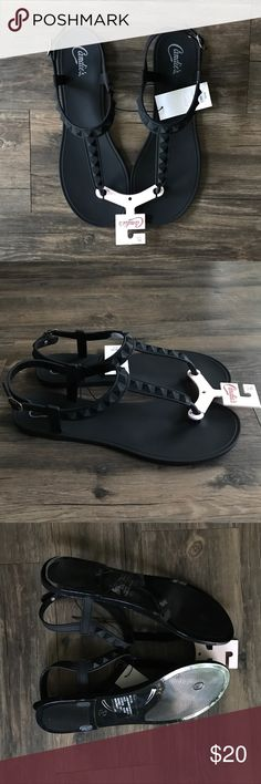 Candies Rubber Stud Sandals NWT! Never worn and in perfect condition. Fully rubberized Sandals perfect for the beach or going on vacation. They contour to the foot really well. Women's size 11 and they are not suitable for wide feet. Candie's Shoes Sandals