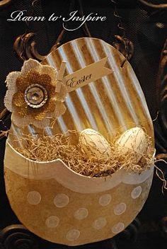 Hanging Easter Egg Basket = would be cute for bedside decor - hospital/nursing home
