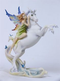 Fairy on Unicorn Statue