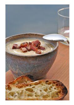 bacon, potato and leek soup.