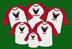 """""""Christmas Reindeer"""" Family Raglan T-shirts"""
