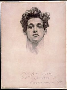 Portrait john singer sargent drawing :  portrait of a man