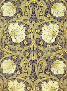 """bordeaux1901:  """"Pimpernel"""" Wallpaper Design, William Morris, 1876"""