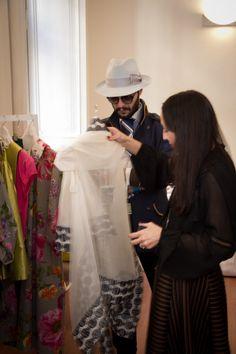 T - Teresa La Fosca Press Day SS2016 #loredanaroccasalva #couture #corner #fashion #collection #ss2016 #madeinitaly #beautiful #design #colorful #flowers #details #special #press #guest #andreatisci #fashion #blogger #blog #stylist