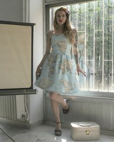 World Map Printed Strapless Cotton Summer Dress. Cute for summer!
