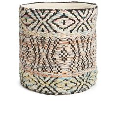 Nordstrom at Home 'Festival' Basket ($79) ❤ liked on Polyvore featuring home, home decor, small item storage, ivory multi, hand woven basket, round storage basket, handwoven baskets and round basket