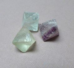Flourite Octahedron Stones. Gemstone Undrilled. Wire by trunksale