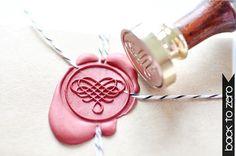 B20 lakzegel stempel filigraan hart