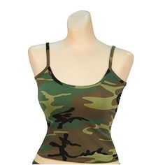 Rothco Womens Casual Tank Top Woodland Green Camouflage XLarge -- Want additional info? Click on the image.