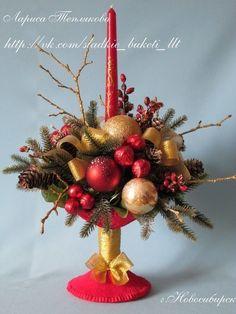 МК по изготовлению вазочки-креманки для новогоднего букета - Новогодние поделки