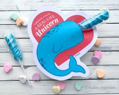 Items similar to Narwhal Horn Valentine's Day Cards Real Life Unicorn Twisty Lollipop Sucker Cute Magical Valentines for School Printable DIY Heart Cards on Etsy Johnny Valentine, Valentine Gifts For Kids, Valentine Day Cards, Valentine Ideas, Heart Cards, Valentine's Day Diy, Horn, Real Life, Unicorn
