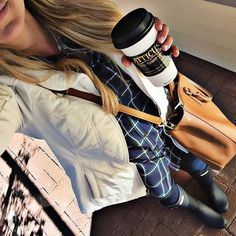 Grabbing coffee and walking around Main Street downtown #ParkCity this morning in my favorite plaid tunic and leggings! Shop my look here @liketoknow.it www.liketk.it/1WUTp #liketkit #fallfashion #fallstyle #jetsetdandy by shopdandy