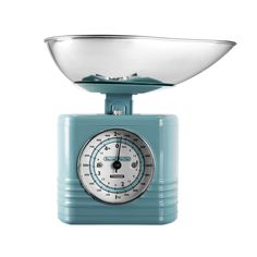 Typhoon Vintage Kitchen Traditional Kitchen Scales - Blue